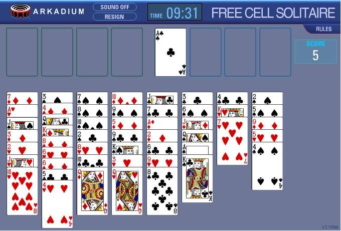 Can't Stop Freecell Solitaire (Java)